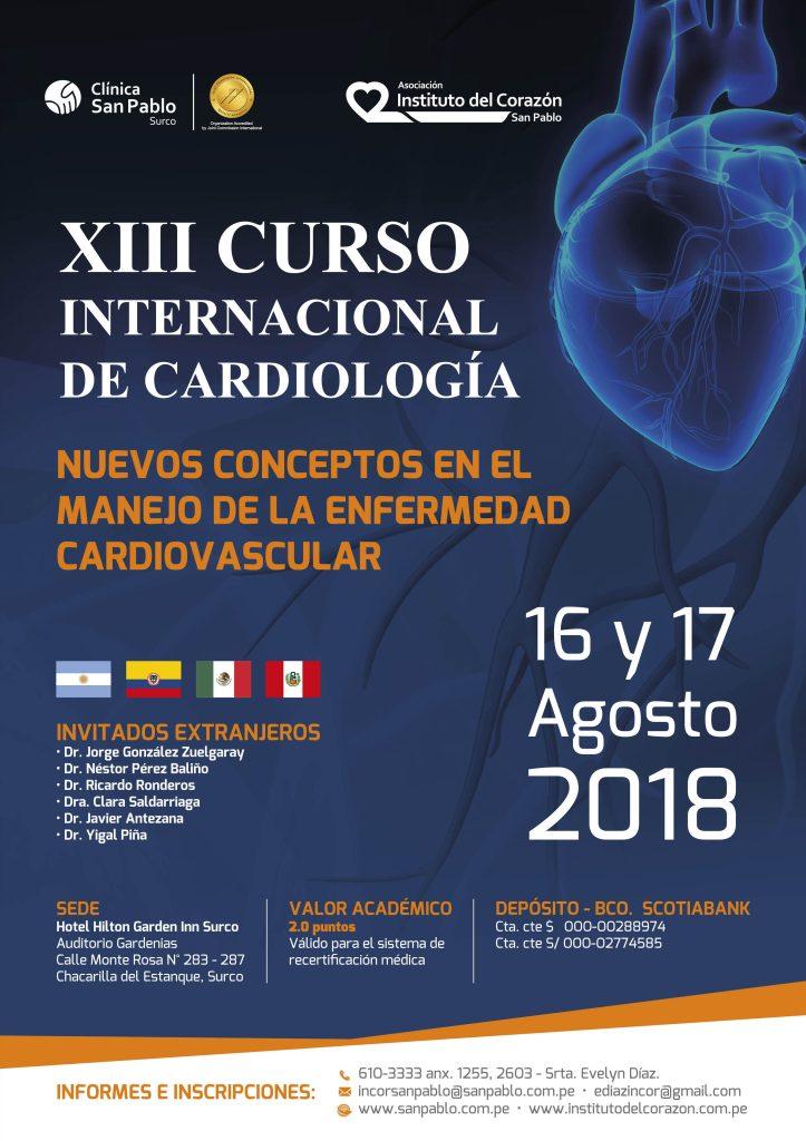 XIII Curso Internacional de Cardiología